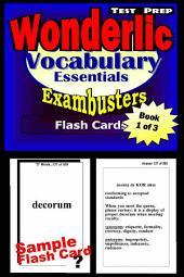 Wonderlic Test Prep Essential Vocabulary--Exambusters Flash Cards--Workbook 1 of 3: Wonderlic Exam Study Guide