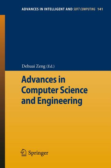 Advances in Computer Science and Engineering PDF