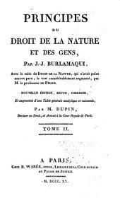 Principes du droit de la nature et des gens: Volume2