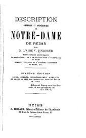 Description historique et archéologique de Nôtre-Dame de Reims ...