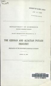 The German and Alsatian potash industry
