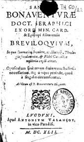 Sancti Bonaventurae... Breviloquium...