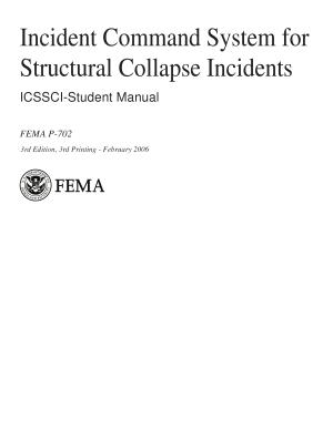 Incident Command System for Structural Collapse Incidents  ICSSCI Student Manual
