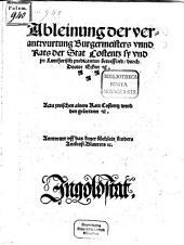 Ableinung der verantwurtung Burgermeisters unnd Rats der Stat Costentz sy und jrr Luttherisch predicanten betreffend