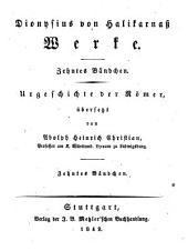 Werke: Urgeschichte der Römer, Band 10