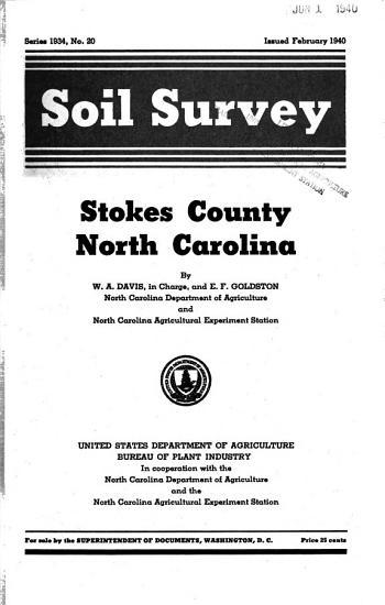 Soil Survey  Stokes County  North Carolina PDF
