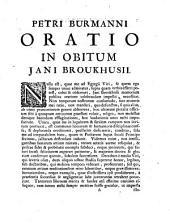 Oratio in obitum Jani Broukhusii