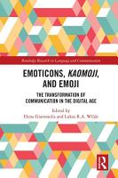 Emoticons  Kaomoji  and Emoji PDF