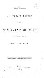 Report of the Department of Mines for the Year...