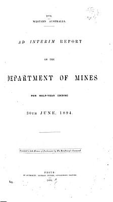 Report of the Department of Mines for the Year    PDF