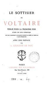 Le sottisier de Voltaire, publ. pour la 1e fois avec une préface par L. Léouzon Le Duc