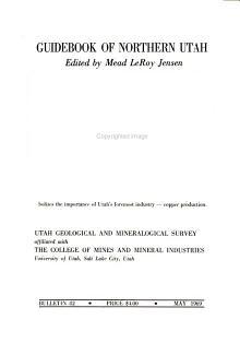 Bulletin   Utah Geological and Mineralogical Survey PDF