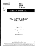 U S  South Korean Relations PDF
