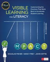 Visible Learning for Literacy  Grades K 12 PDF