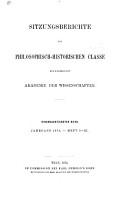 Sitzungsberichte     sterreichische Akademie der Wissenschaften  Philosophisch historische Klasse PDF