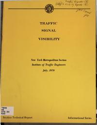 Traffic Signal Visibility