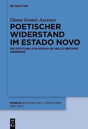 Poetischer Widerstand im Estado Novo PDF
