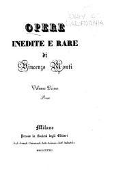 Opere inedite e rare: Volume 1