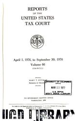 Reports Of The United States Tax Court Book PDF