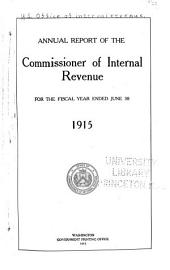 Annual Report of the Commissioner of Internal Revenue for the Fiscal Year Ended ...