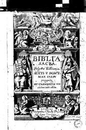 Biblia sacra: Vulgatae Editionis, Sixti V. pont. Max. Iussu recognita et Clementis VIII. auctoritate edita