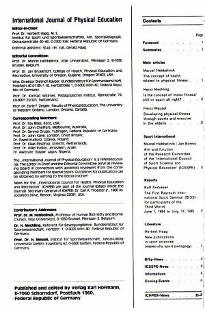 International Journal of Physical Education PDF