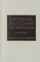 Historical Dictionary of Somalia PDF