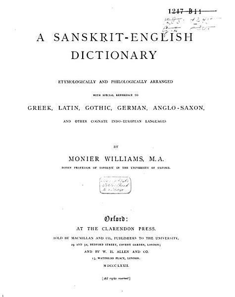 Sanskrit English Dictionary