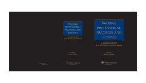 Valuing Professional Practices and Licenses