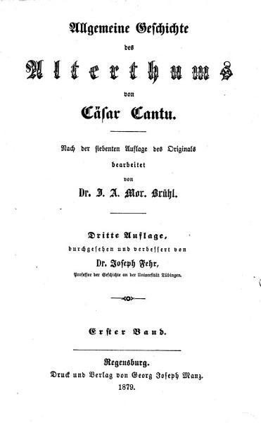 Allgemeine Weltgeschichte PDF