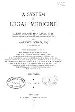 A System of Legal Medicine
