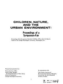 Children  Nature  and the Urban Environment PDF