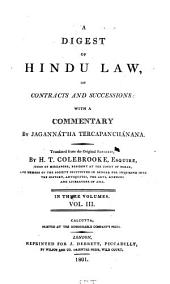 A digest of Hindu law, on contracts and successions: Volume 3