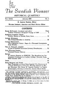 The Swedish Pioneer Historical Quarterly PDF