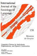 International Journal of the Sociology of Language PDF