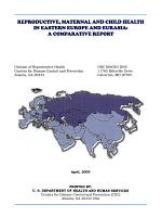 Reproductive  Maternal and Child Health in Eastern Europe and Eurasia PDF
