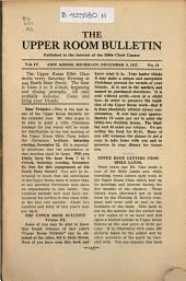 Upper Room Bulletin: Volume 4, Issue 10