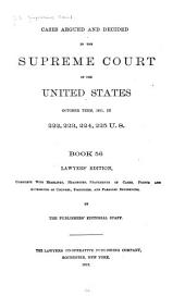 Reports of Cases Argued and Decided in the Supreme Court of the United States: Book 56