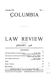 Columbia Law Review: Volume 8