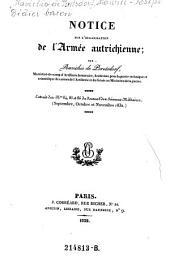 Notice sur l'organisation de l'armee autrichienne