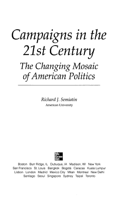 Campaigns in the 21st Century PDF