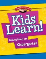 Kids Learn  Getting Ready for Kindergarten PDF