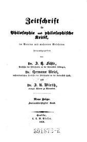 Zeitschrift für Philosophie und philosophische Kritik: Band 32