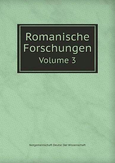 Romanische Forschungen PDF