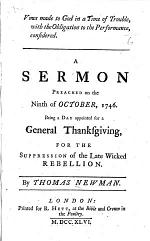 Vows made to God in a Time of Trouble, with the Obligation to the Performance, considered. A sermon