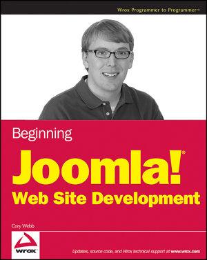 Beginning Joomla  Web Site Development PDF
