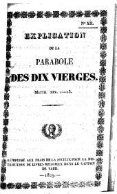 Explication de la parabole des dix vierges