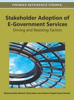 Stakeholder Adoption of E Government Services  Driving and Resisting Factors PDF