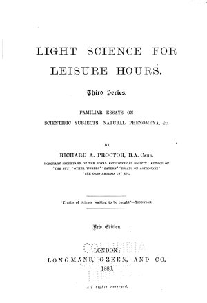 Light Science for Leisure Hours PDF