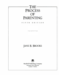 The Process of Parenting PDF